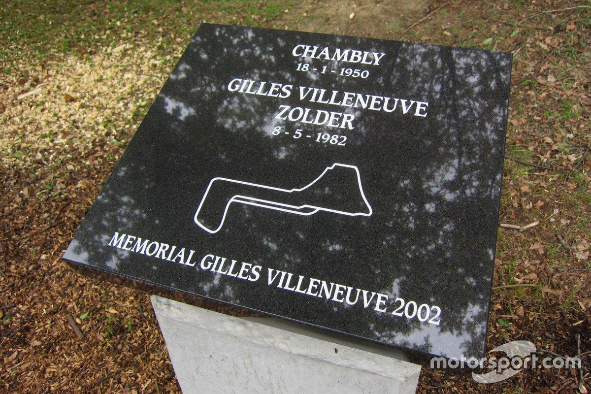 Una placa en Zolder al cumplirse 30 años de la muerte de Gilles Villeneuve