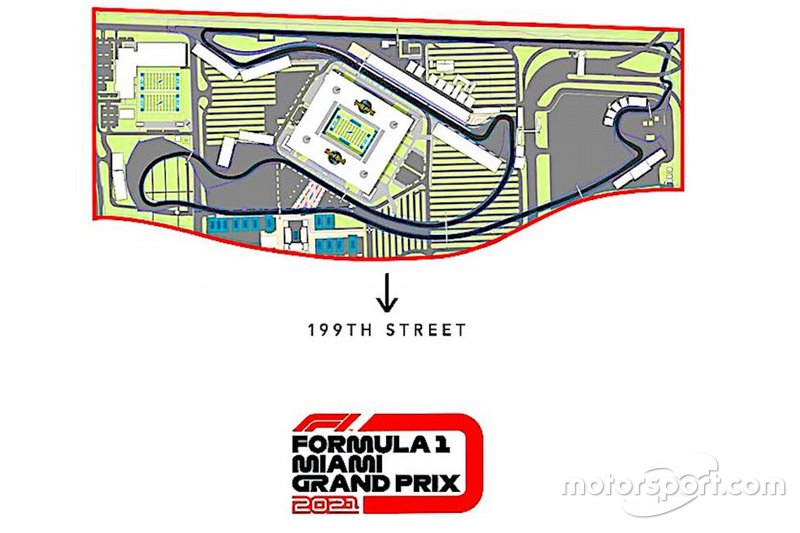 Así sería el circuito del GP de Miami de Fórmula 1.