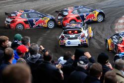 Davy Jeanney, Team Peugeot Hansen; Sébastien Loeb, Team Peugeot Hansen; Kevin Hansen, Peugeot Hansen Academy