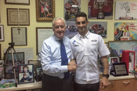 World Superbike Photos - Giampiero Sacchi, IodaRacing Project team owner and Leandro Mercado