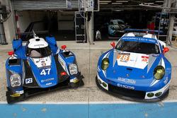 #47 KCMG Oreca 05 Nissan and #78 KCMG Porsche 911 RSR