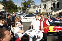 Jamie Green, Audi Sport Team Rosberg, Audi RS 5 DTM and Nico Müller, Audi Sport Team Abt Sportsline, Audi RS 5 DTM with fans