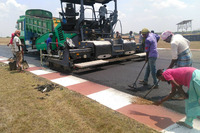 General Photos - Work on repaving the track