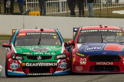 Jason Bright, Brad Jones Racing Holden and Fabian Coulthard, Team Penske Ford