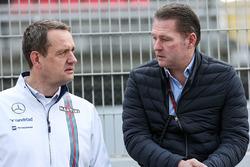 Steve Nielsen, Williams Sporting Manager with Jos Verstappen