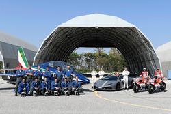 Andrea Dovizioso, Ducati Team, Michele Pirro, Ducati Team with the Italian Air Force