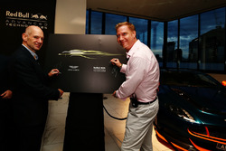 Adrian Newey, Chief Technical Officer Red Bull Racing and Marek Reichman, Chief Creative Officer and Design Director Aston Martin