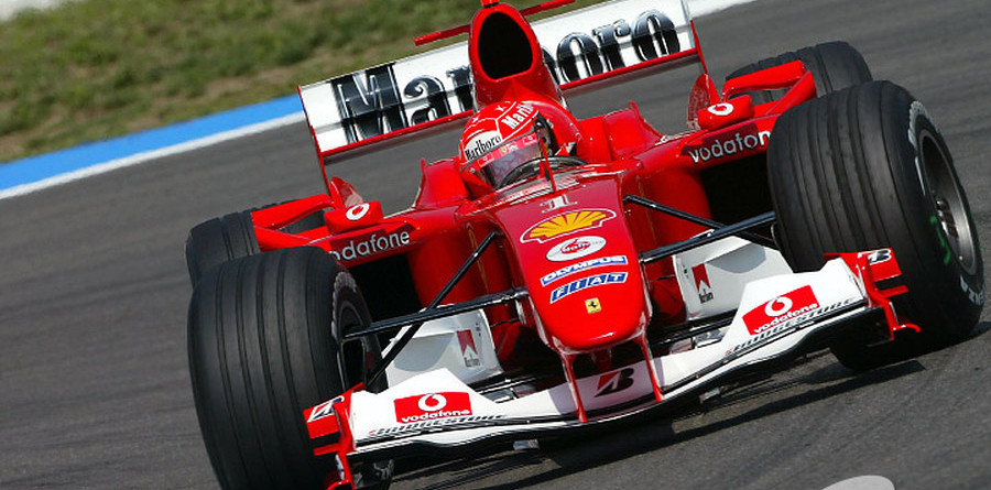 Schumacher storms to pole for German GP