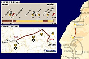 Dakar: Stage 6 Smara to Zouerat notes