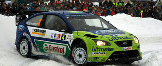 WRC Hirvonen takes snowy Rally Norway victory