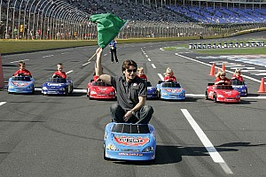 NASCAR Sprint Cup Jeff Gordon races with kids at LMS