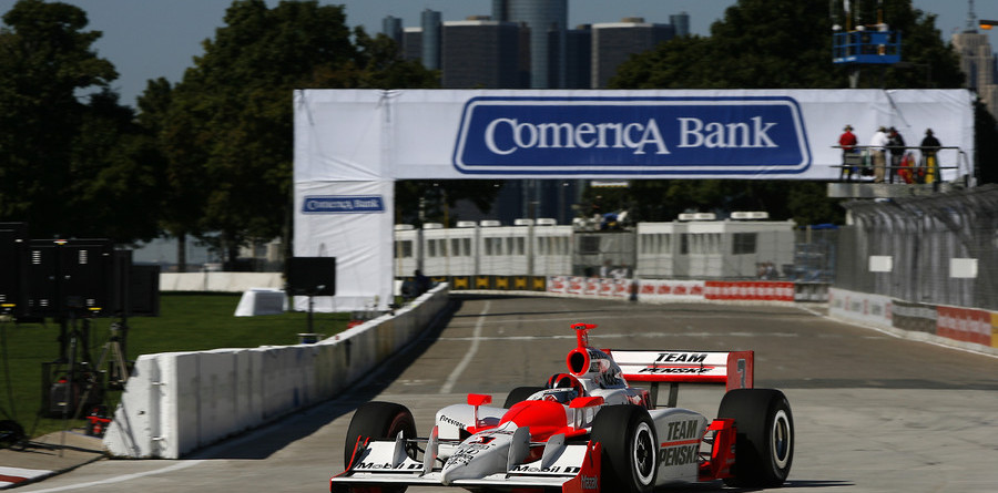 IRL: Castroneves tops Friday Detroit speed chart
