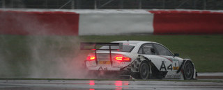 Kristensen takes rainy Nurburgring pole