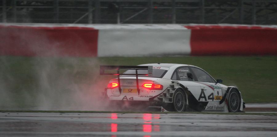 Kristensen takes rainy Nurburgring pole
