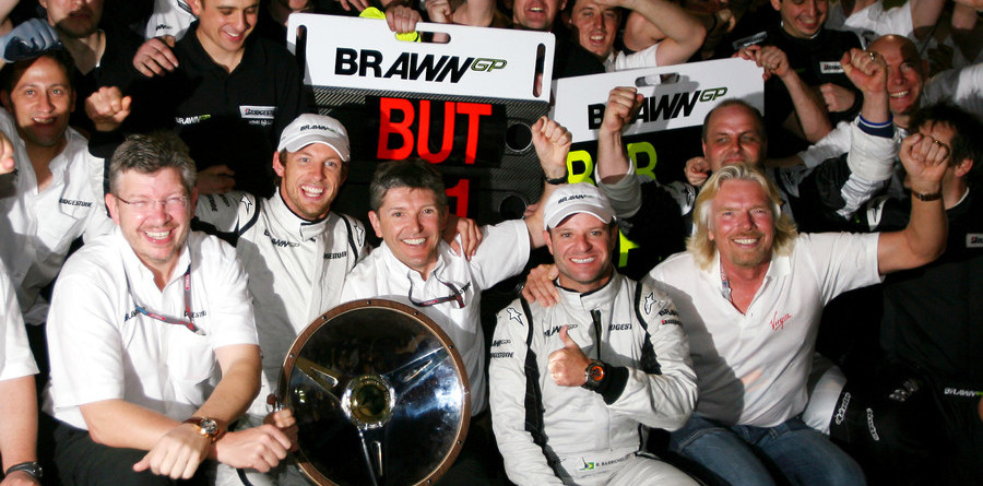 Button leads Brawn GP sweep in Oz