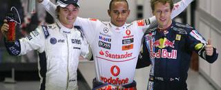 Hamilton handed the Singapore pole