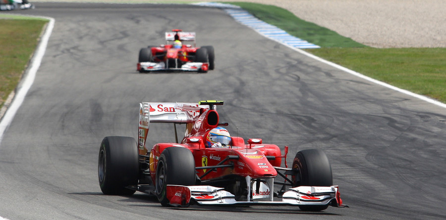 Massa gives Alonso German GP in Ferrari 1-2