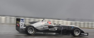BF3 Magnussen walks on water at Donington Park