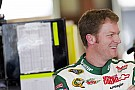 Dale Earnhardt Jr. visits the media at Kansas Speedway