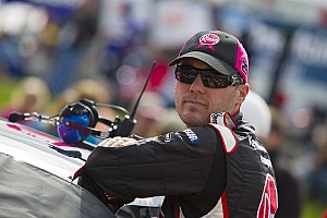Kevin Harvick visits the media at Talladega II
