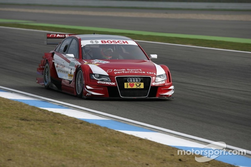 Audi is starting into its last race of the season from P1 at Hockenheim