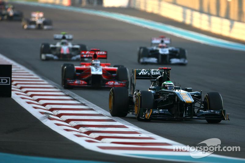 Team Lotus Abu Dhabi GP race report
