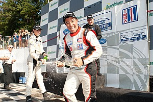 ALMS IMSA Lites' Champion Vera tests Dyson Mazda LPM car