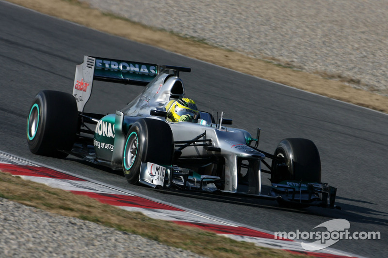 Mercedes barcelona testing -  day 4 report