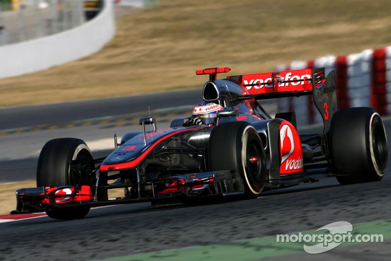 McLaren Barcelona test II -  Day 1 report