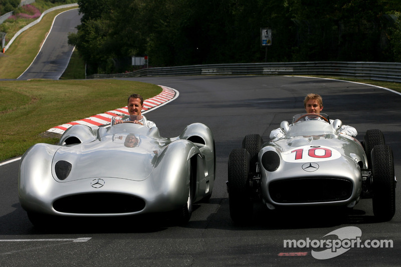 Rosberg happy to stay with Schumacher beyond 2012