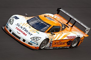 Grand-Am Ricky Taylor puts the SunTrust Corvette on the pole at NJMP