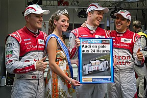 Le Mans Front-row lockout for Audi, but Toyota snatches third