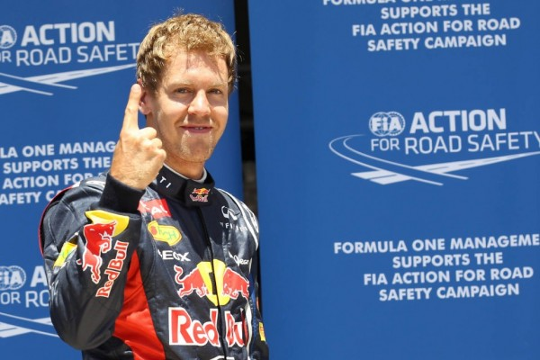 Vettel grabs European GP pole on final flying lap