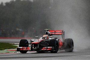 Formula 1 Practice report Grosjean, Hamilton hydroplane to top spots in British GP practice