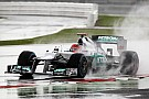 Schumacher rain dances to third fastest in British GP qualifying