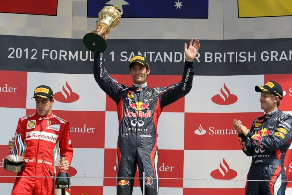 Webber snatches British victory in final laps from Alonso