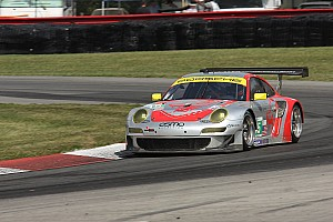 Lizard's Bergmeister and Long finished second in GT at Road America