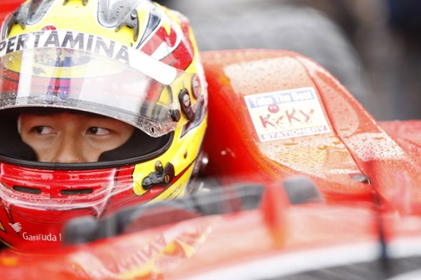 Haryanto earns his maiden pole in extremely wet conditions at Spa