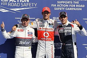 Button, Kobayashi top qualifying at Spa