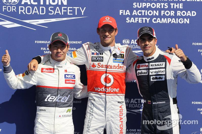 Button, Kobayashi top qualifying at Spa