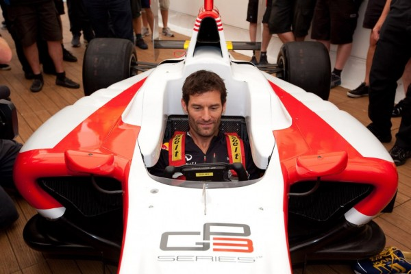 New GP3/13 car revealed in Monza, Webber fires it up