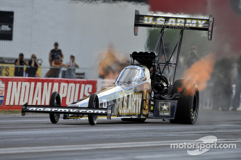 Schumacher wins ninth Top Fuel crown and Brown races to semifinals at Indy