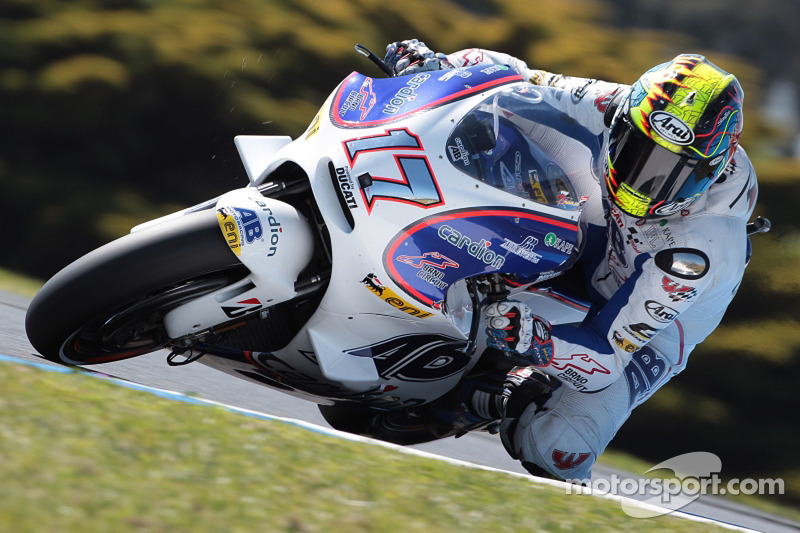 Abraham tops first day at damp Misano