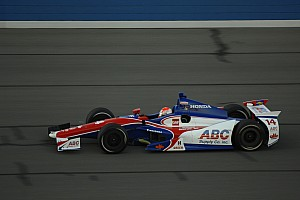 Cunningham has solid finish in Foyt Honda at Fontana
