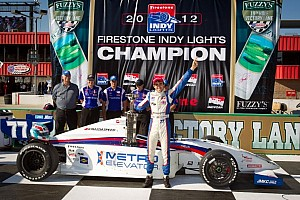 Indy Lights Race report Vautier claims championship as Munoz takes Fontana victory