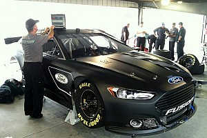 NASCAR Sprint Cup Testing report Ford stays busy gathering data for 2013 Fusion at Martinsville - Video
