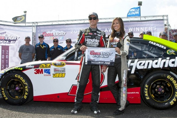 Kahne puts Hendrick Chevrolet on pole at Talladega