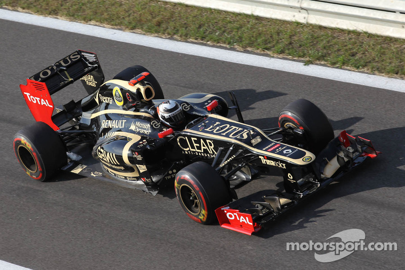 Lotus evaluated the new Coand exhaust system during Friday practice at the Korean Grand Prix