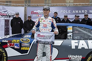 NASCAR Sprint Cup Qualifying report Kahne blazes to pole at repaved Kansas Speedway