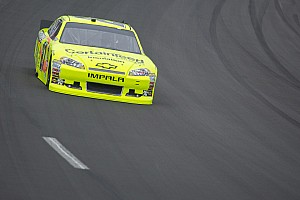 NASCAR Sprint Cup Race report Paul Menard leads Chevrolet at Kansas with a third-place finish